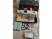 Jones 949 Zig zag MULTI Decorative STITCH Sewing machine with Cams & Attachments