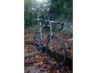 Large Vintage Raleigh Road bike - Modern Shimano Wheelset, stripped finish