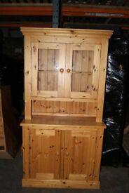 Tuscan Pine 2 bay Glazed Dresser