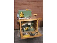 Woodworking Multi Functional Machine with Trolley Bench