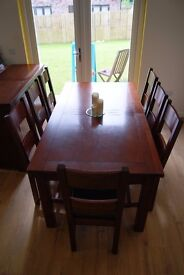 Halo Dining Table and 8 chairs plus Sideboard (all matching from the Plum range)