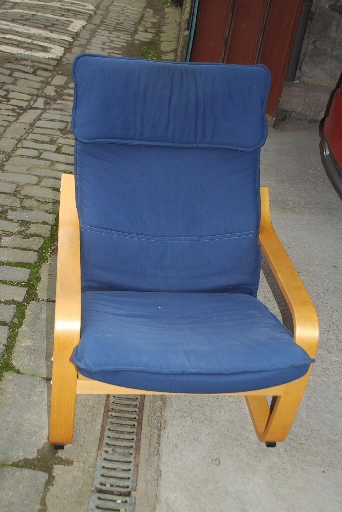 Ikea Poang Chair Blue Cover Poang Footstool In Perth