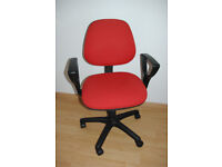 Red fabric office/computer chair