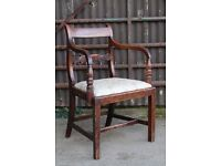 A C19th Carved & Turned Mahogany Arm Chair C1850 UK Delivery Available