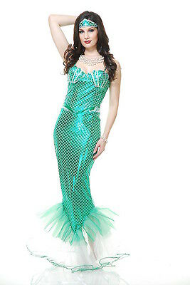 ADULT WOMENS SEXY EMERALD GREEN ARIEL MERMAID COSTUME PIRATE SEA MYTHIC MAGICAL](Ariel Costumes For Women)