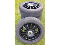 15 Spoke Black Alloy Wheels 15""