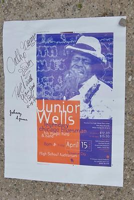 Vintage Autographed Concert Poster Junior Wells 1994