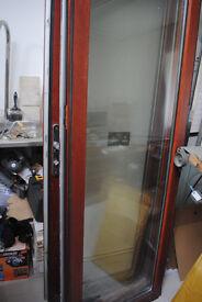 Folding sliding/bi fold doors - External double glazed hardwood framed outward opening 3 panel set