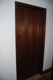 Quality solid pine brace and ledge doors