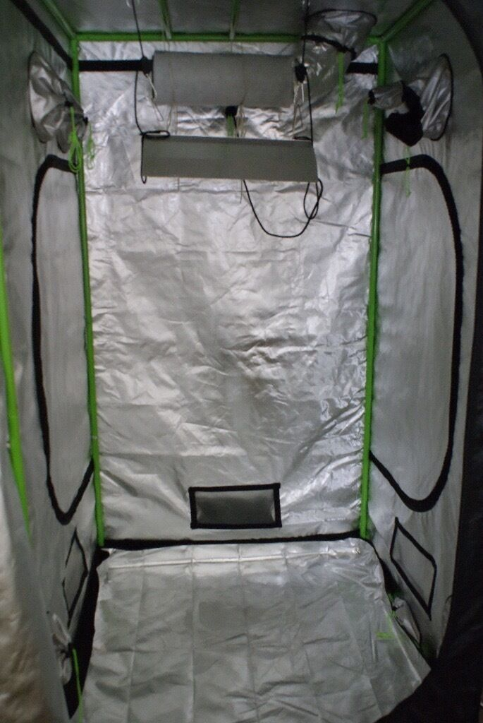 Grow tent bulb reflector and ballast carbon filter for Chambre a pousse