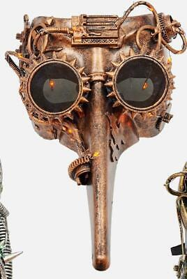 180 Degrees Steampunk Copper Mask Halloween Costume Underwater Space Decor