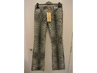 Leopard print jeans by Roberto Cavalli