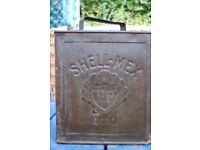 Shellmex 2 gallon vintage petrol can, unrestored
