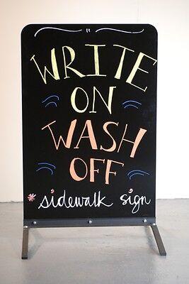 Sidewalk Sign Wind Flex Write On Board Liquid Chalk Outdoor Sign