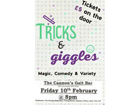 Tricks & Giggles Cabaret , Magic, Music, Comedy