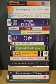 Selling my books from computers science degree, all in very good conditions