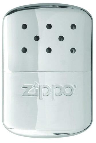 Zippo 12 Hour Easy Refill Silver Hand Warmer, Compact Pocket Camping Outdoor