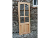 Solid Pine Glass Panelled Interior Door - *Free Local Delivery