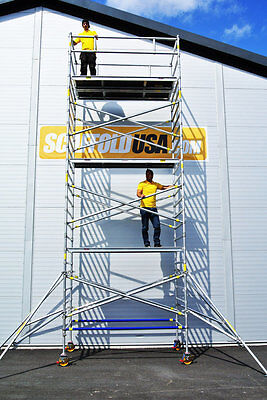 Scaffold Usa 21 Ft Double Wide Aluminum Mobile Scaffold Tower