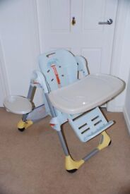 Chicco Polly High Chair, good condition, sold without padded cover - Lisburn