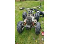 Apache 100 cc quad bike breaking