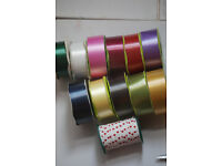 Job lot of florist poly ribbon 12x