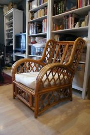 Pair of Rattan conservatory / garden chairs