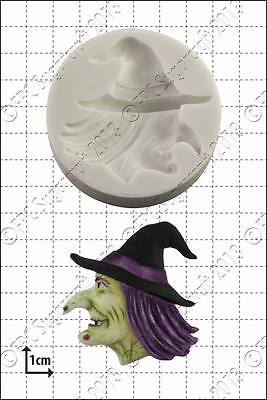 Halloween Food Uk (Silicone mould Witch's Head | Food Use FPC Sugarcraft FREE UK)