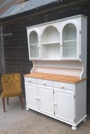 Vintage White Ducal Pine Dresser *FREE DELIVERY* Shabby Chic Sideboard Welsh Farmhouse Display