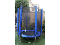 Kids junior trampoline and enclosure, blue 4.5ft