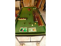 Snooker and pool table 6' x 3'