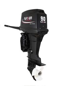 EX DISPLAY Parsun 90hp 2 stroke, power trim, electric start, 3 years warranty. outboard boat engine