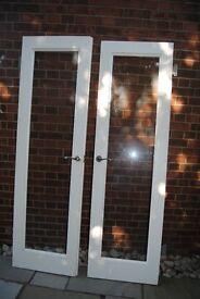 Pair Internal glass doors, custom made