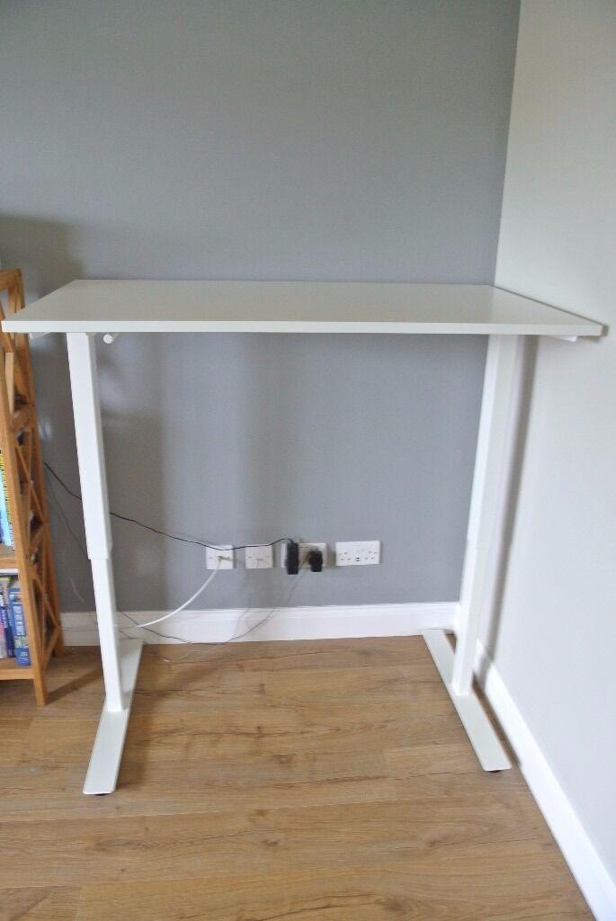 Ikea Skarsta Desk Sit Stand Hardly Used Excellent