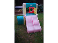 little tikes climbing frame with double slide