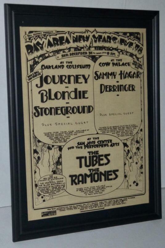 RAMONES TUBES BLONDIE SAMMY HAGAR 1978 BILL GRAHAM PRESENTS CONCERT POSTER / AD