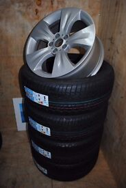 """BMW X5 E70 GENUINE 19"""" ALLOY WHEELS FULLY REFURBISHED with BRAND NEW ALL SEASON TYRES"""