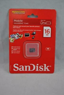 - NEW OEM Sandisk 16GB Mobile microSDHC Card HD Video Photo SDSDQ_016G-A11M