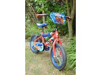 Child's Spiderman bike, superb condition