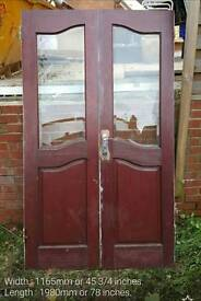 Hardwood French Doors (free local delivery / collection)