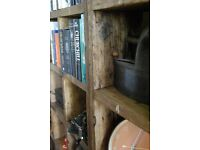 BOOKCASE run x5 pigeon-holes FREE DELIVERY LONDON & BRIGHTON industrial rustic solid wood