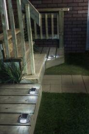 Manor House 4 Solar LED Marker Lights - Brand New