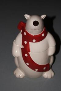 Polar Bear Cookie Jar