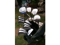 Set R/H golf clubs