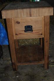 solid pine butchers block