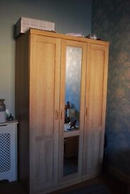 Large wardrobe light coloured