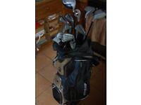 F380 Medium Flex Graphite Golf Clubs and Dunlop Cart Bag