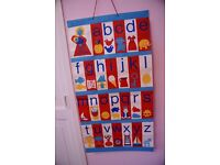 Three Lovely Wall Murals for the Nursery - Vintage 1970's Mothercare
