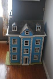 Blue georgain dollhouse