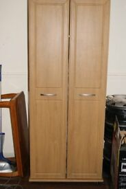 shaker beech coloured wardrobe